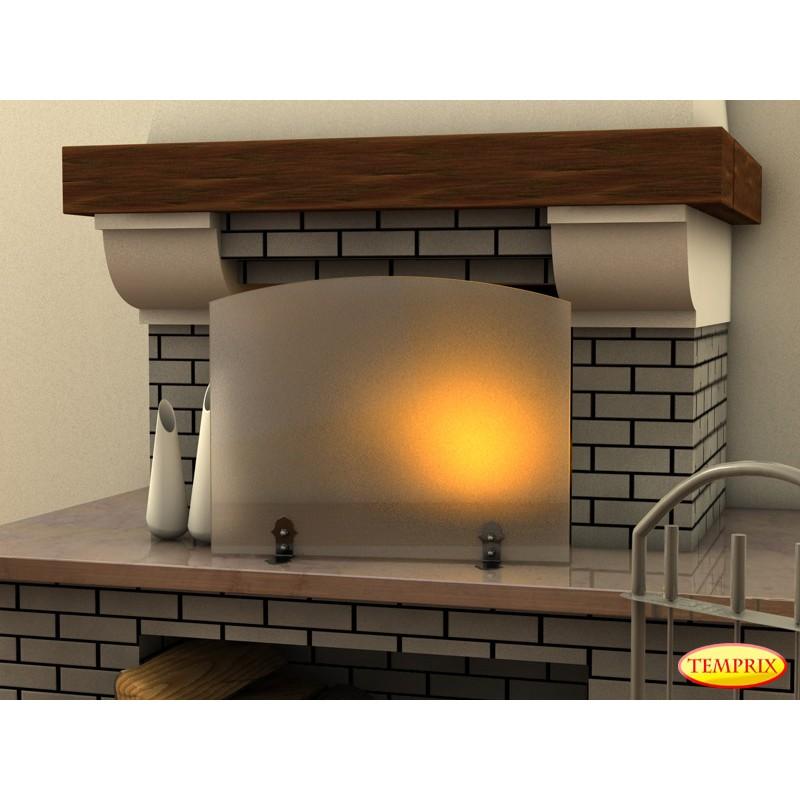 Vitre de chemin e bomb e plaques de sol pare tincelles conduits de chemin e funkenschutz - Pare feu de cheminee ...