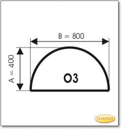Plaque de sol, acier, format: O3