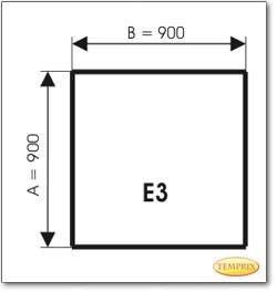 Plaque de sol, verre teinté brun, format: E3