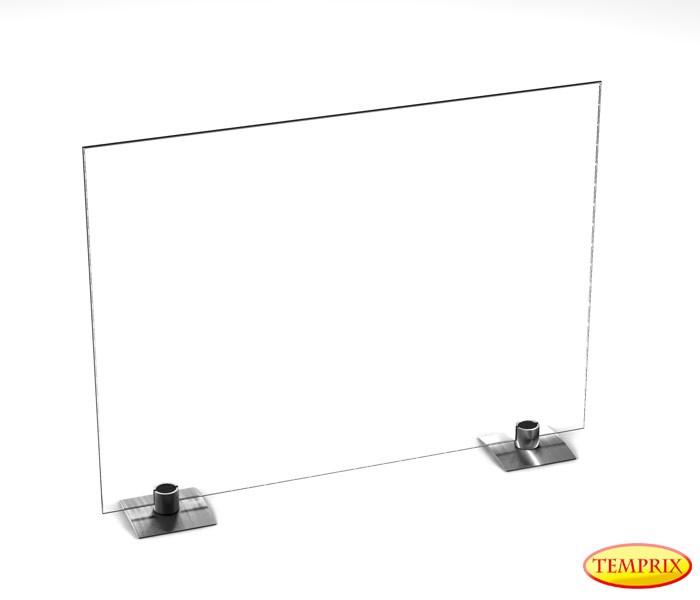 Pare-étincelles Beta verre clair 540mm x 600mm avec pieds en acier spécial