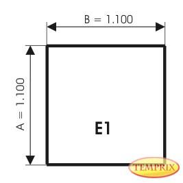 Plaque de sol, Aluminium, forme: E1