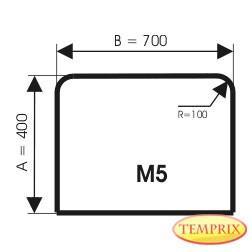 Plaque de sol, Aluminium, forme: M5