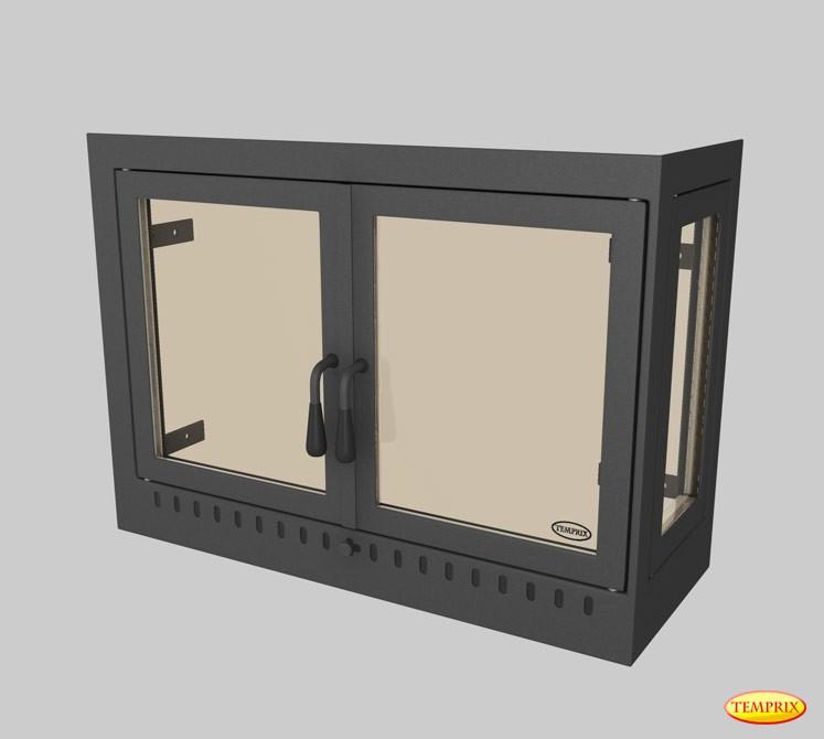 vitre de chemin e bomb e plaques de sol pare tincelles conduits de chemin e porte de po le. Black Bedroom Furniture Sets. Home Design Ideas