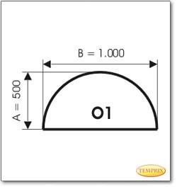 Plaque de sol, acier, format: O1