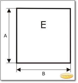 Plaque de sol, verre sablé Ice-Look, format au choix S1