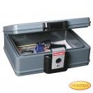 Boîte à document résistante au feu, boîte coffre-fort, boite pour d'argent, boite à photos, boîte à documents ignifuge, coffre fort résistant à la haute température