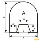 Plaque de sol en acier inoxydable, format de choix S6