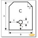 Plaque de sol, acier, format au choix S4