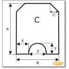 Plaque de sol, acier, format au choix S5