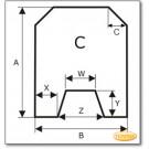 Plaque de sol, acier, format au choix S6