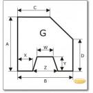 Plaque de sol, acier, gris, format de choix S6