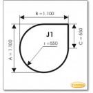Plaque de sol, acier, format: J1