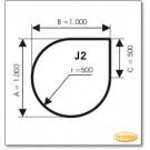 Plaque de sol, acier, format: J2