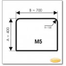 Plaque de sol, verre clair, format: M5