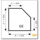 Plaque de sol, verre clair, format: G2