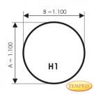Plaque de sol, Aluminium, forme: H1