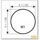 Plaque de sol, verre clair, format: H1