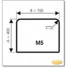 Plaque de sol, verre sablé Ice-Look, format: M5