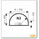 Plaque de sol, acier, format: N3