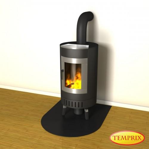 Cheminée Plaque de sol protection étincelle cheminée plaque acier gris four plaque ofenblech-c1